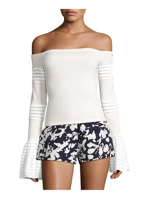 ALEXIS BARBARA Gryffin Off-The-Shoulder Bell Sleeve Top
