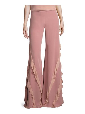 ALEXIS BARBARA Julless Ruffled Flared Pants