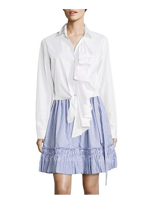ALEXIS BARBARA Kinley Ruffled Cotton Poplin Top