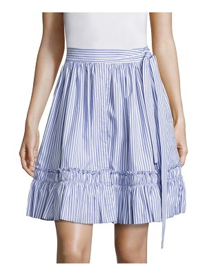 ALEXIS BARBARA Shirred Hem Striped Skirt
