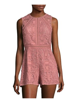 ALEXIS BARBARA Makenna Embroidered Lace Romper
