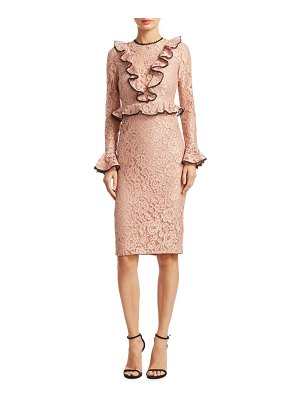 ALEXIS BARBARA Mariette Lace Sheath Dress