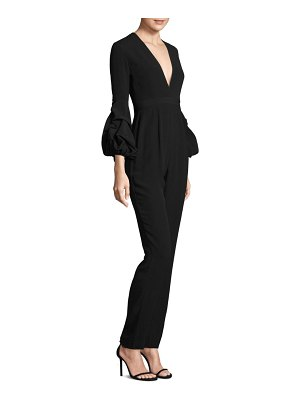 ALEXIS BARBARA Maximilia Exaggerated Sleeve V-Neck Jumpsuit