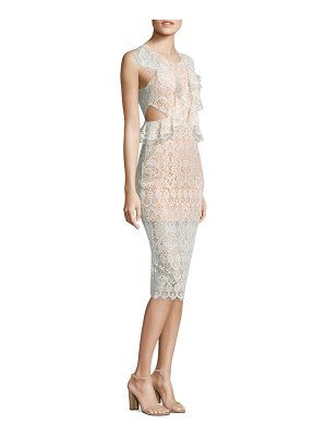 ALEXIS BARBARA Pepa Cutout Ruffled Lace Dress
