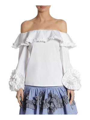 ALEXIS BARBARA Regine Off-the-Shoulder Cotton Top