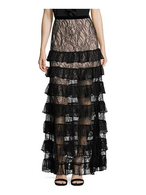 ALEXIS BARBARA Vicky Long Tiered Lace Skirt
