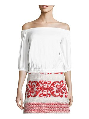 ALEXIS BARBARA Vitali Off-The-Shoulder Poplin Top