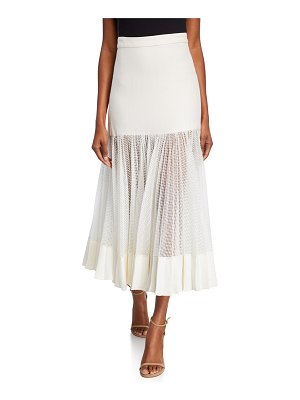 Alexis Bartley Mesh Linen Midi Skirt