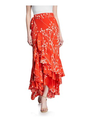 Alexis Benedetto Printed Flounce Wrap Skirt