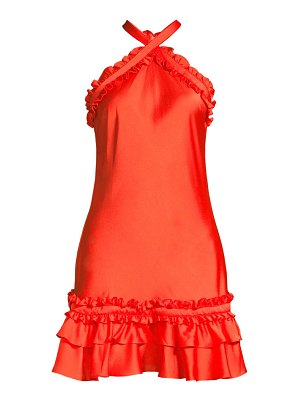 Alexis bloom ruffle halterneck mini dress