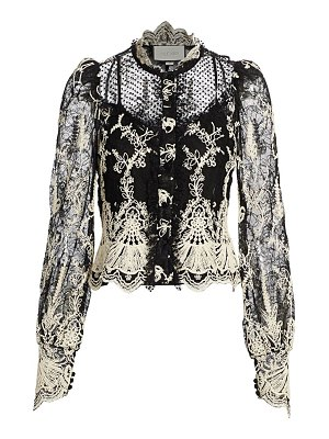 Alexis boda embroidered lace blouse