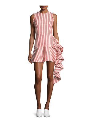 Alexis Cara Sleeveless Slim-Fit Striped Cotton Cocktail Dress