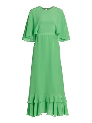 Alexis cateline cape-sleeve midi dress
