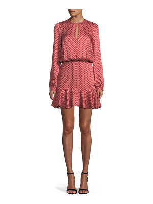 Alexis Coretti Printed Flounce Mini Dress