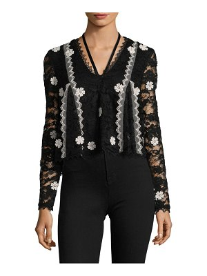 Alexis Cyndi Floral Applique Lace Top