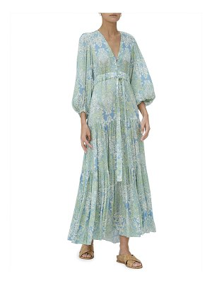Alexis Fortunia Tiered Floral Damask Maxi Dress