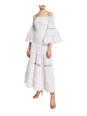 Alexis Guinevere Off-Shoulder Tiered Long Dress
