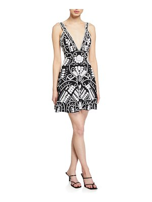 Alexis Jerza Embroidered Short Dress