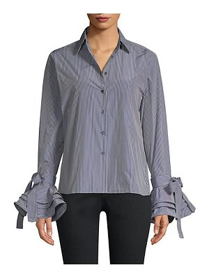 Alexis karin striped bell sleeve blouse