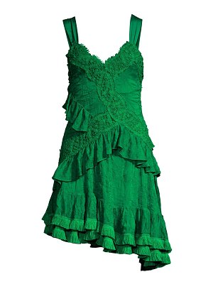 Alexis lakshmi ruffle lace mini dress