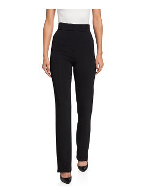 Alexis Lofton High-Rise Straight-Leg Pants