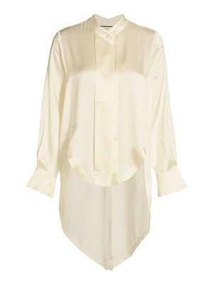 Alexis lupin high-low silk top