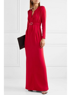 Alexis Mabille crystal-embellished belted crepe gown