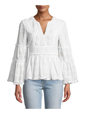 Alexis Melitta V-Neck Long-Sleeve Eyelet & Lace Blouse