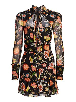 Alexis morgana floral cutout mini dress