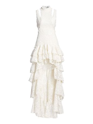 Alexis varenna lace ruffle gown