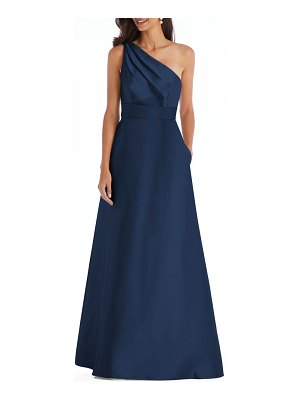 Alfred Sung one-shoulder a-line gown