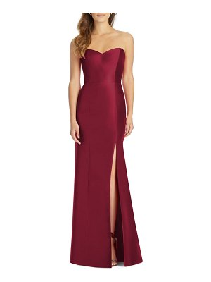 Alfred Sung sateen twill strapless trumpet gown