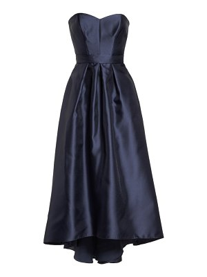 Alfred Sung strapless high/low sateen twill gown