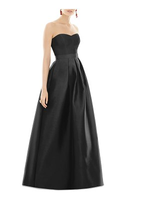 Alfred Sung Strapless Sweetheart A-Line Gown