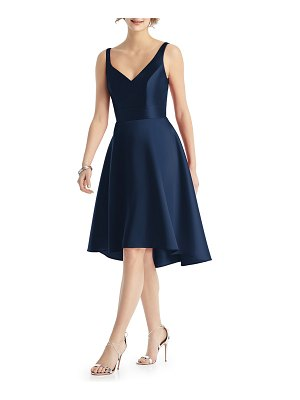 Alfred Sung V-Neck Sleeveless Sateen Twill Cocktail Dress