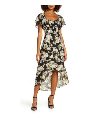 Ali & Jay new bohemian chiffon high/low dress