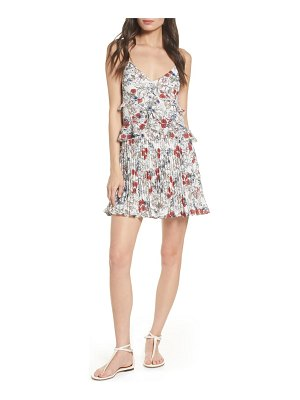 Ali & Jay samo floral ruffle pleated minidress