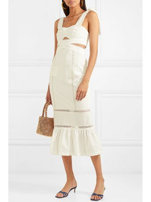 Alice McCall a foreign affair crochet-paneled pintucked cotton dress