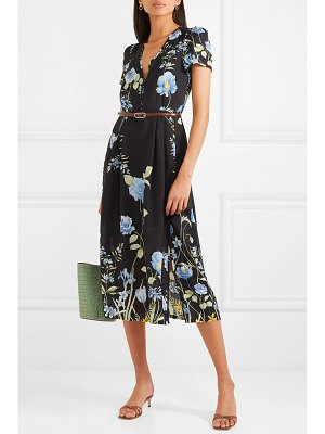 Alice McCall flower girl floral-print crepe de chine midi dress