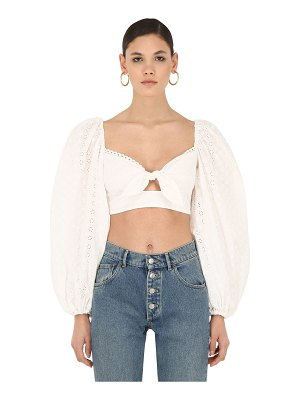 Alice McCall Harper broderie anglaise cotton top