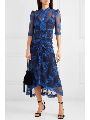 Alice McCall honeymoon ruched embroidered tulle midi dress