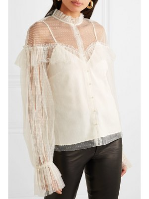 Alice McCall just right ruffled point d'esprit tulle blouse