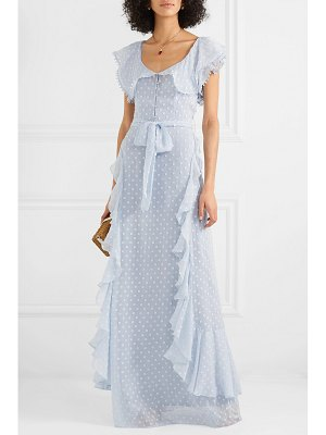 Alice McCall moon talking ruffled fil coupé maxi dress