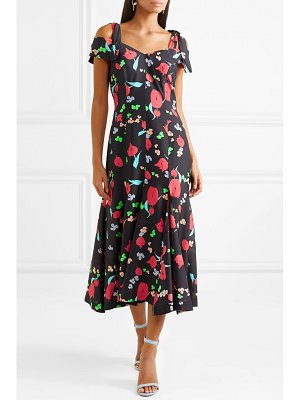 Alice McCall one kiss cold-shoulder floral-print crepe de chine midi dress