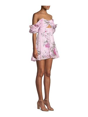 Alice McCall peony cutout off-the-shoulder floral dress