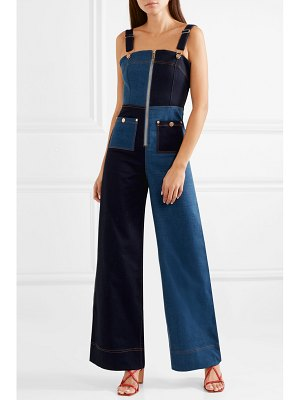 Alice McCall quincy patchwork denim overalls