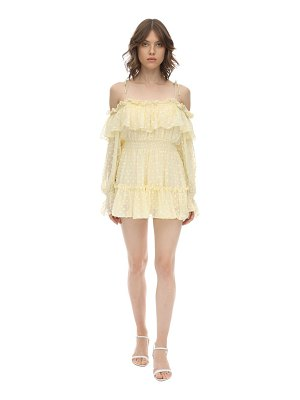 Alice McCall Ruffled silk blend plumetis mini dress