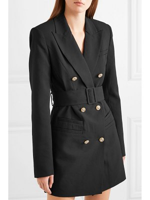 Alice McCall that's all crystal-embellished double-breasted grain de poudre blazer