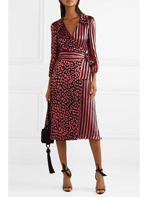 Alice + Olivia alice olivia - abigail devoré silk-blend chiffon wrap dress