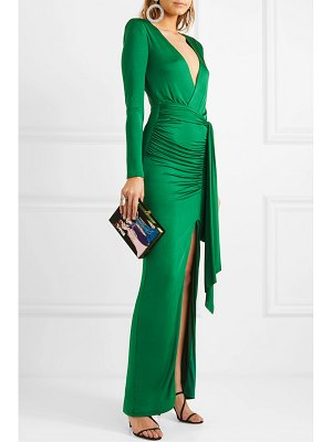 Alice + Olivia alice olivia - kyra wrap-effect ruched stretch-jersey maxi dress